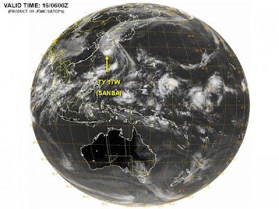 Tifón Sanba 17 de Septiembre 2012