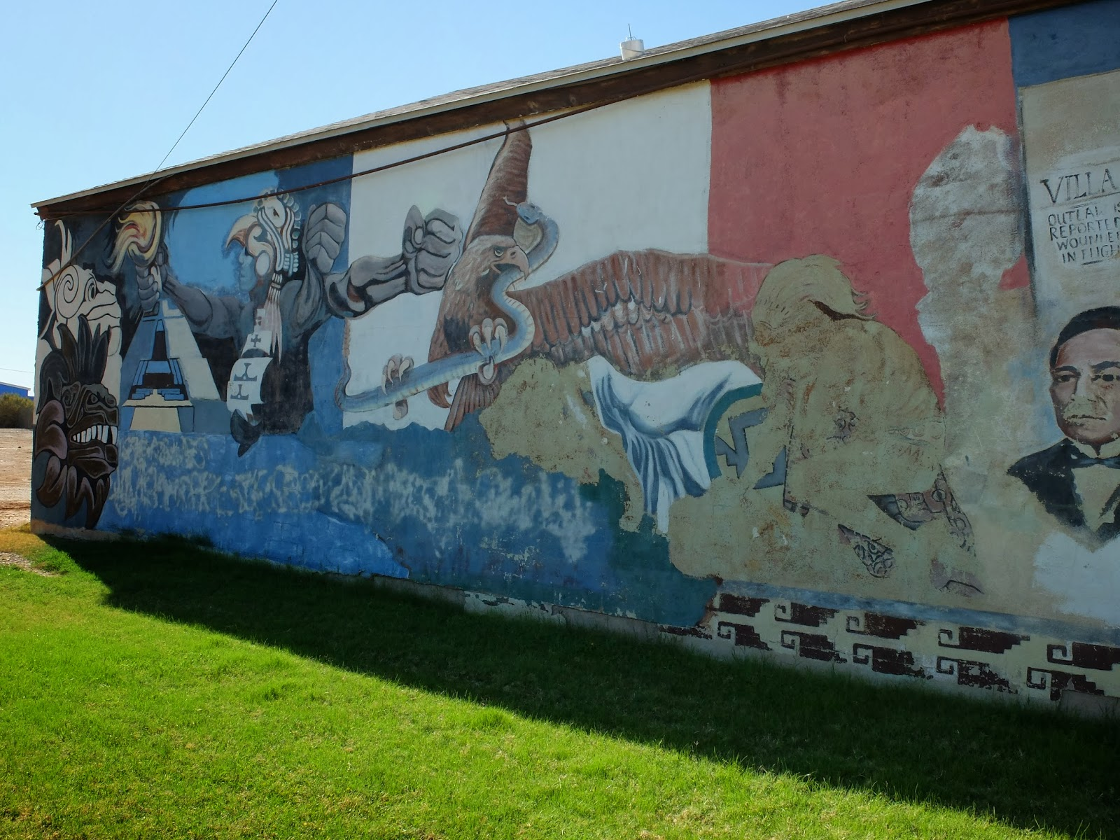 Travelmarx mexican history mural in brawley california for Mural history