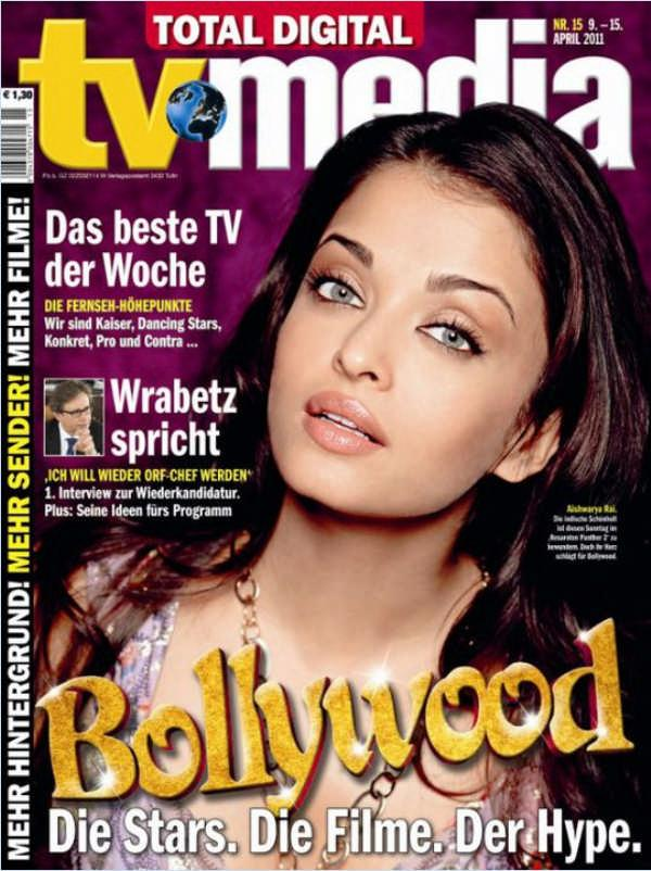 Aishwarya Rai On 2011 German Entertainment Magazine Cover Page