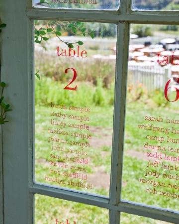 Nombres en vidrio
