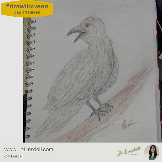 #drawlloween: Day 11 Raven #Halloween #Drawing #Challenge