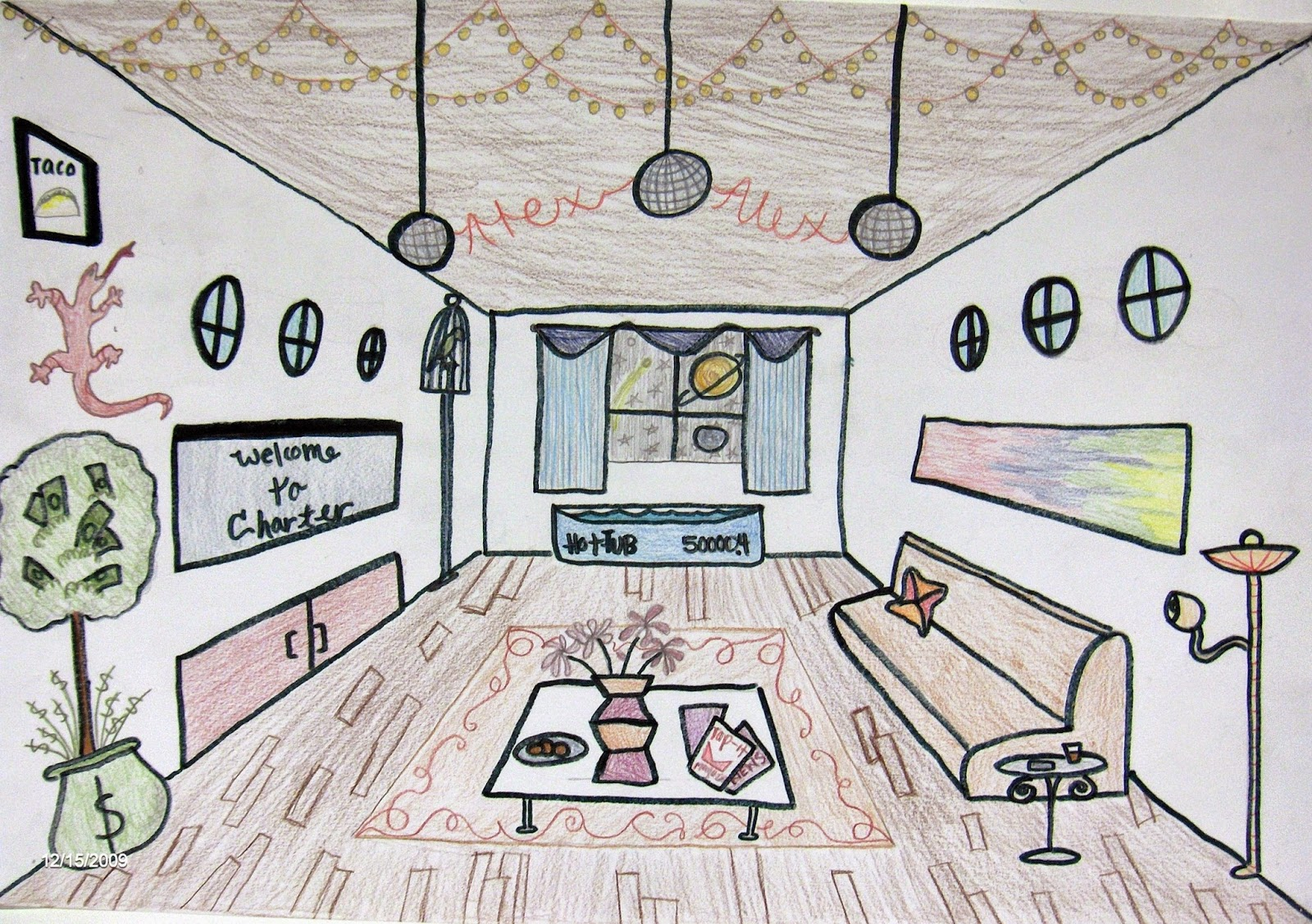 Classroom Design Sketch ~ Managing the art classroom linear perspective how do