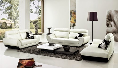 white modern and luxurious italian sofa set design