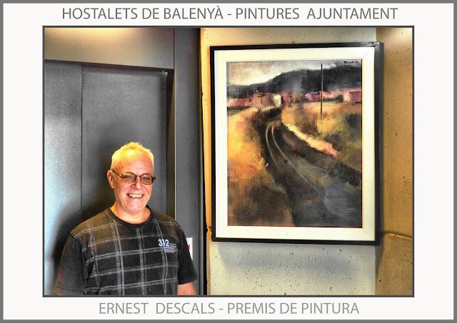 HOSTALETS DE BALENYÀ-PINTURA-AJUNTAMENT-PREMIS-CONCURSOS-CATALUNYA-PAISATGES-FOTOS-HISTORIAL-PINTOR-ERNEST DESCALS-