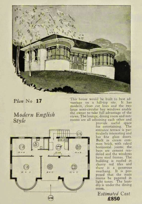 A moderne bent on deco house plans sheldon cheney henri for Art deco house design