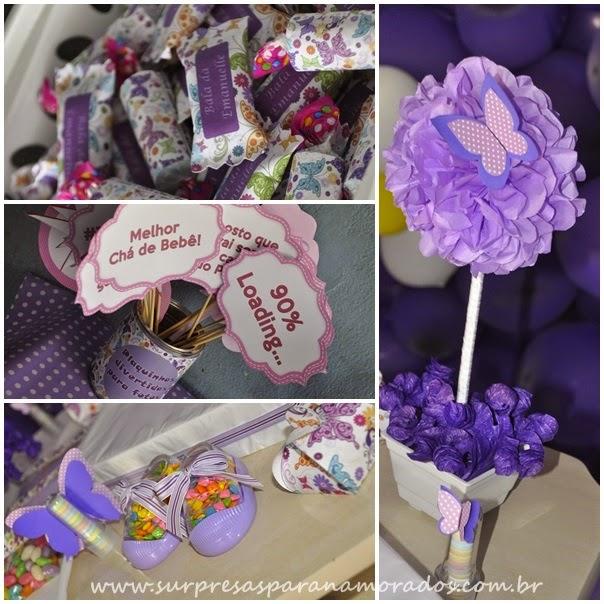 decoração lilás