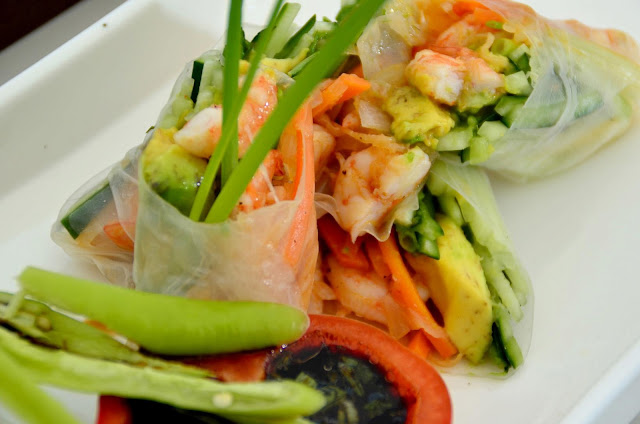 Shrimp and Vegetable Spring Rolls Recipe