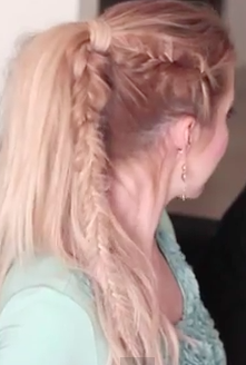 Fish Tail Braid Pony Tail Hairstyle - Cool Hairstyles For Girls