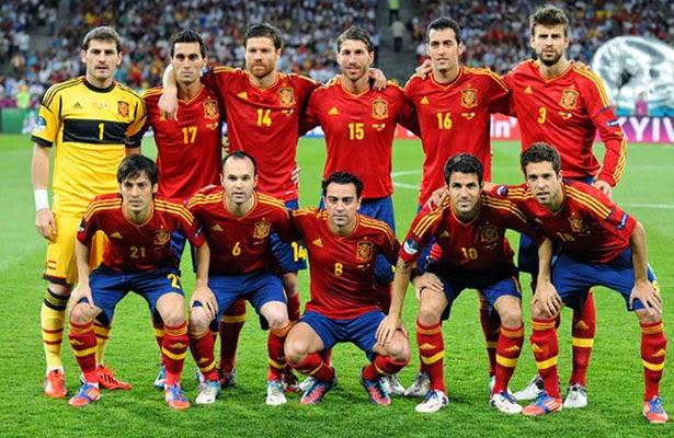 équipe de football Espagne, mondial Bresil 2014 La Roja
