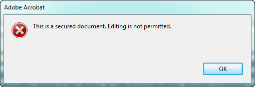cannot edit PDF document