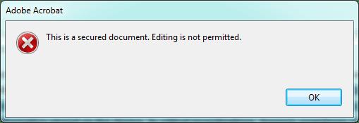 cannot edit PDF document