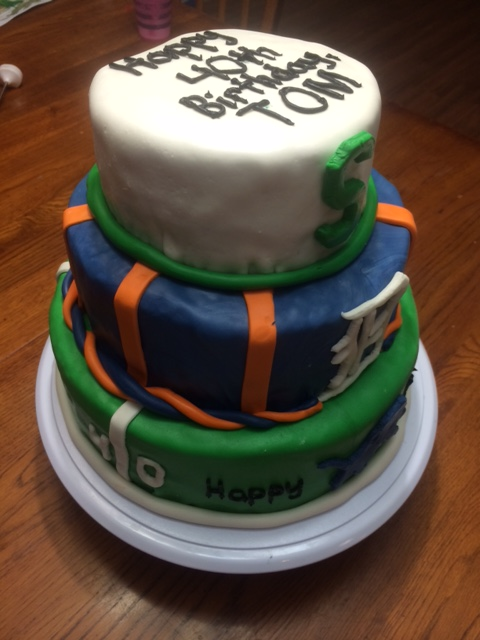 Erins Cakes 40th Birthday Cake For Detroit Sports Fan