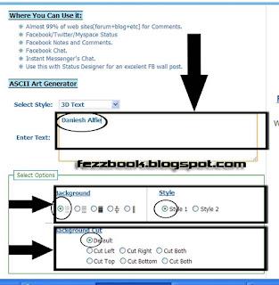 Cara Update Status Facebook Dengan Tulisan 3 Dimensi
