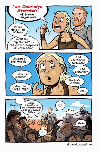 Daenerys Targaryen y sus títulos - Juego de Tronos en los siete reinos