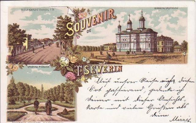 Suvenir din Turnu Severin la inceput de secol XX