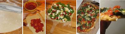 Zubereitung Pizza auf dem Pizzastein