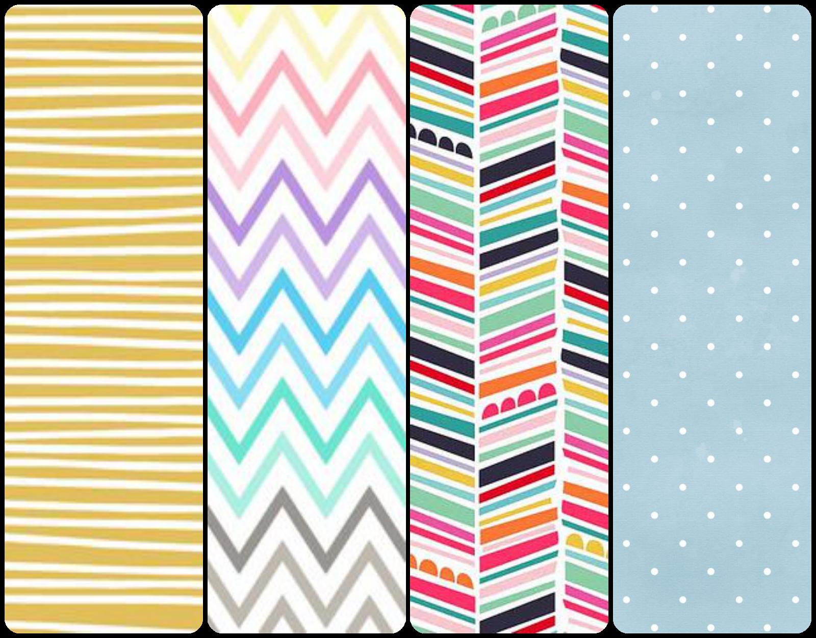 Fondos de pantalla wallpaper chulos para el móvil celular rayas, zigzag, topitos y lunares whatsapp, iphone,