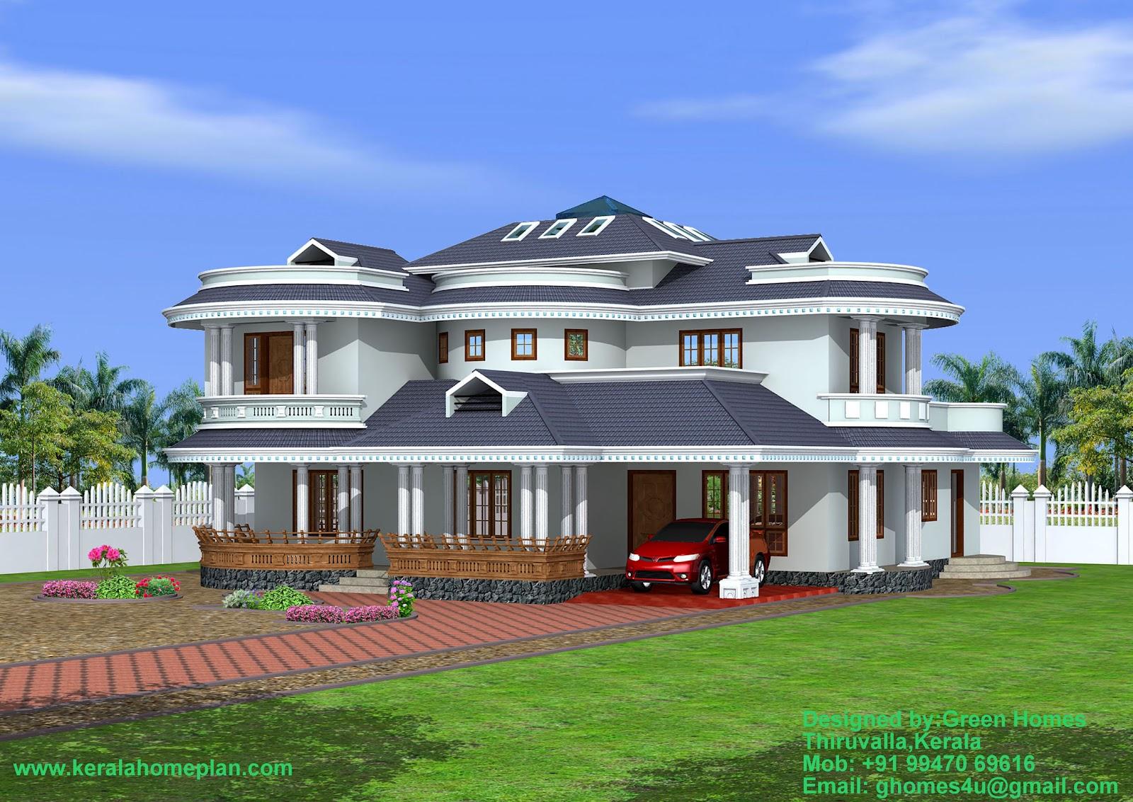 Green homes construction beautiful 4 bedroom kerala home for Kerala house exterior