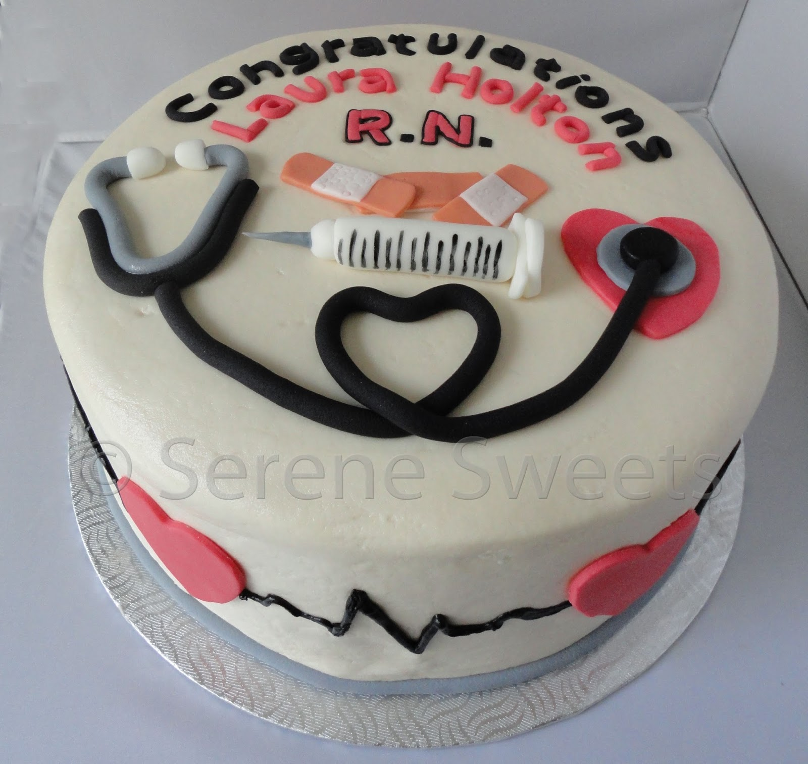 Serene Sweets Nurse Cake