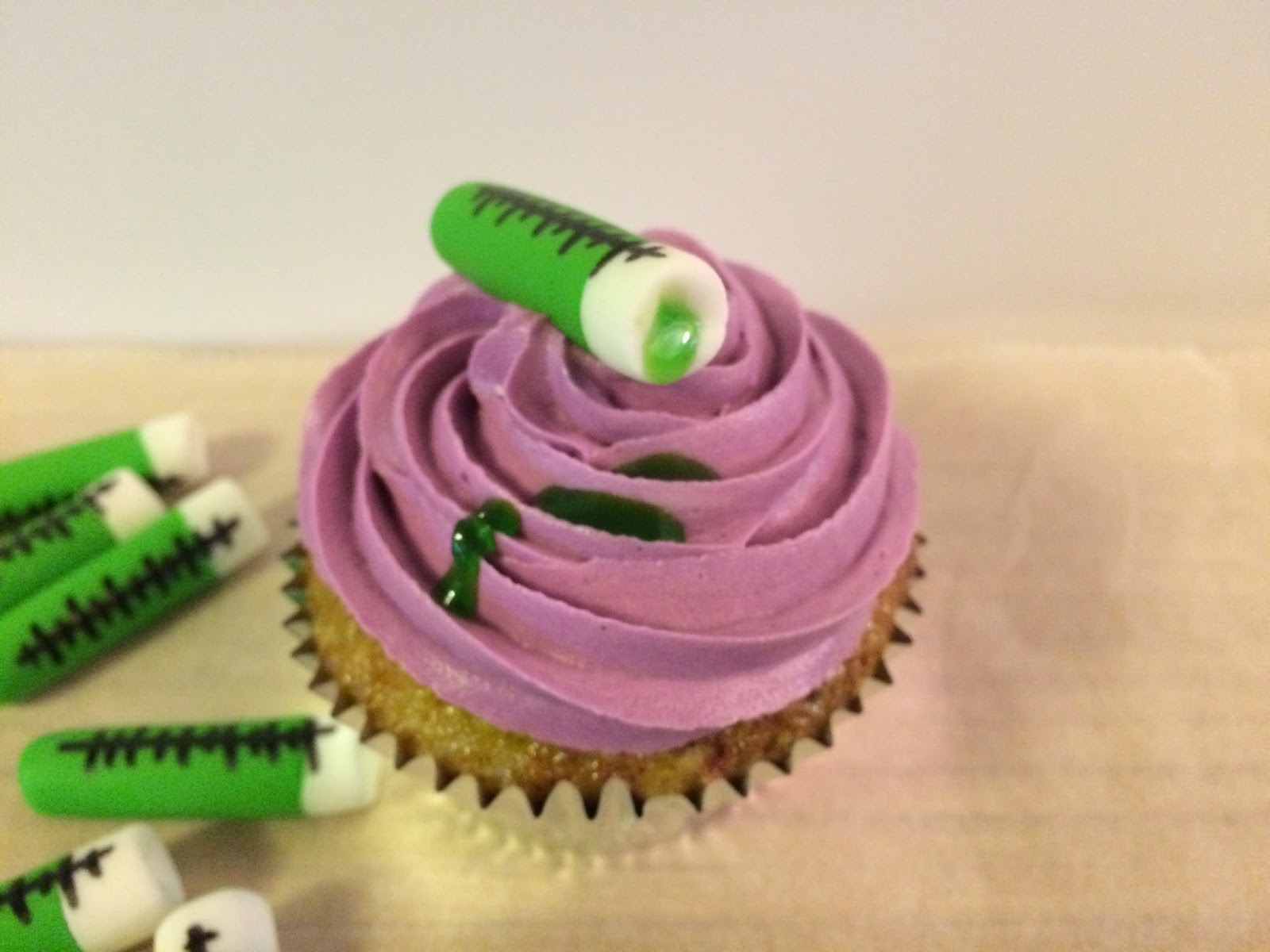 Science themed cupcakes crissas cake corner beakers test tubes the periodic table and albert einstein come to mind the cupcakes are vanilla cupcakes with a tye dye effect using electric purple gamestrikefo Choice Image