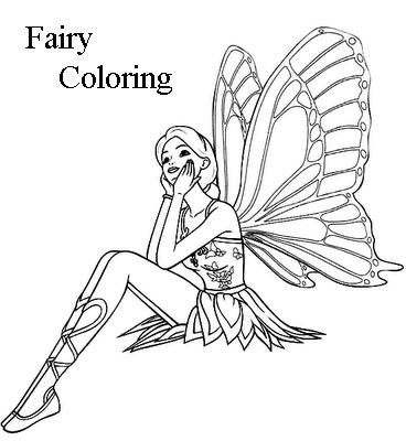 Disney Princess Fairy Coloring