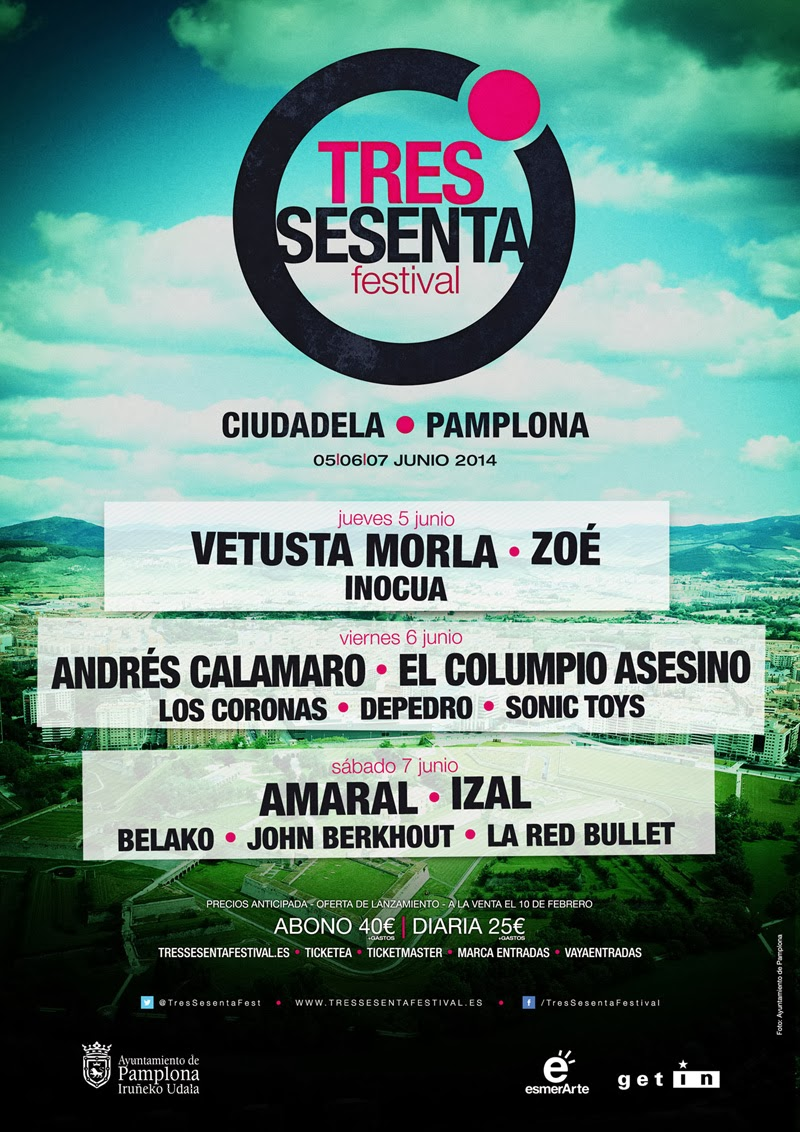 Cartel Tres Sesenta Festival Pamplona 2014