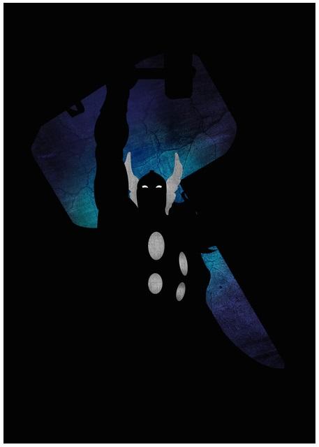 Lily's Factory ilustrações quadrinhos super heróis marvel dc sombras minimalistas Thor
