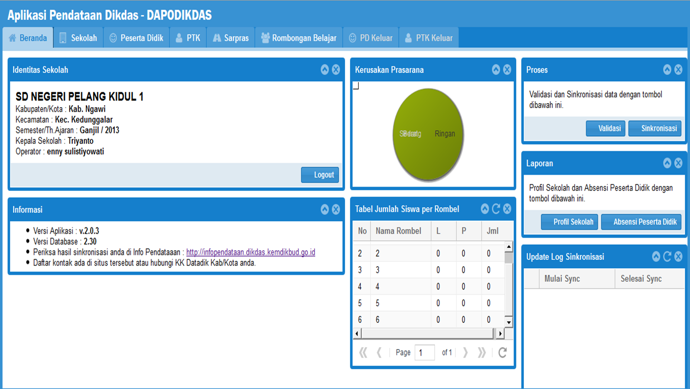 APLIKASI DAPODIK EXPIRED DENGAN UPDATE/PATCH VERSI 2.0.3