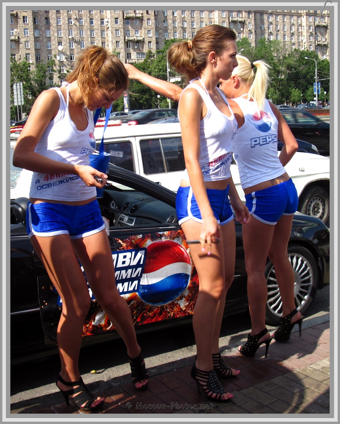 Pepsi Girls In Blue Shorts
