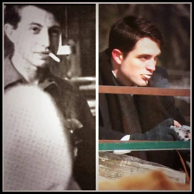 """3 Marzo - Fotos originales de James Dean y Dennis Stock (en 1955) comparadas con Rob y Dane película """"Life""""!!! 9195"""
