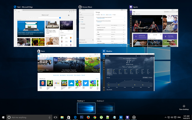 Task View Windows 10