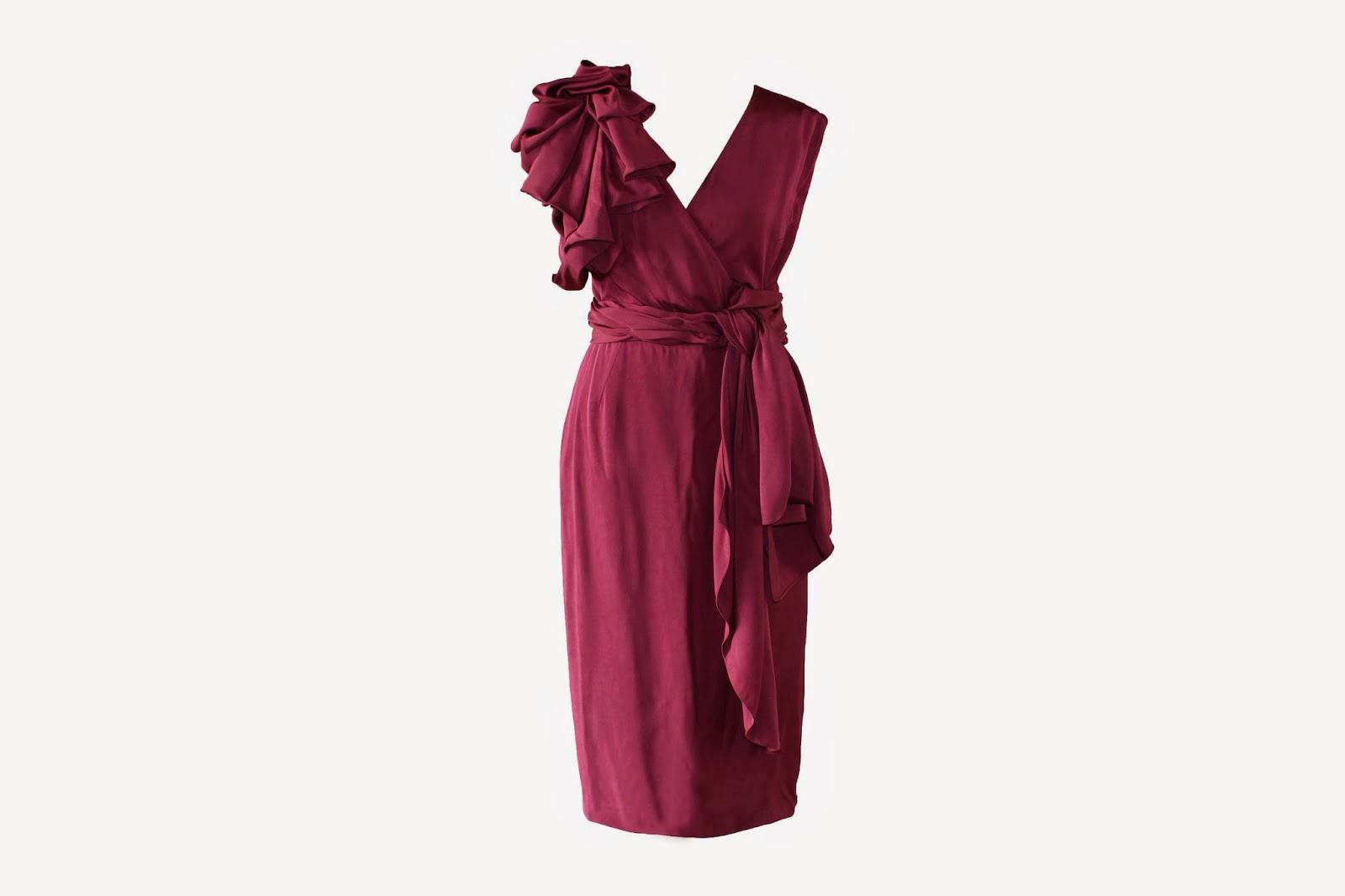 Vestido de María Barros disponible en Lamasmona.com