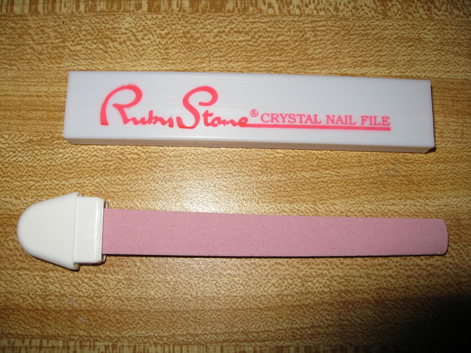 Ruby Stone Crystal Nail File