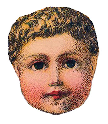Vintage Image - Antique Doll Head 2