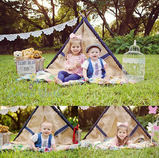 Boca Raton child family photographer vintage stylized Naomi Bluth teepee