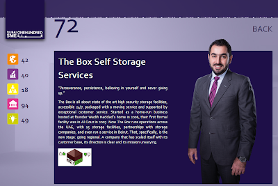 The Box Self Storage Services Ranked No. 72 on Dubai SME 100 Rankings