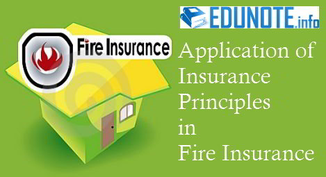 Application of Insurance Principles in Fire Insurance