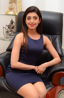 Actress Pranitha Latest Pictures in Short Dress at Dynamite Interview   (5)