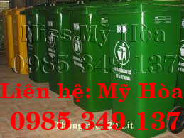 thùng rác công cộng, thùng rác 120L, 240L, 660L Mỹ Hòa 0985 349 137