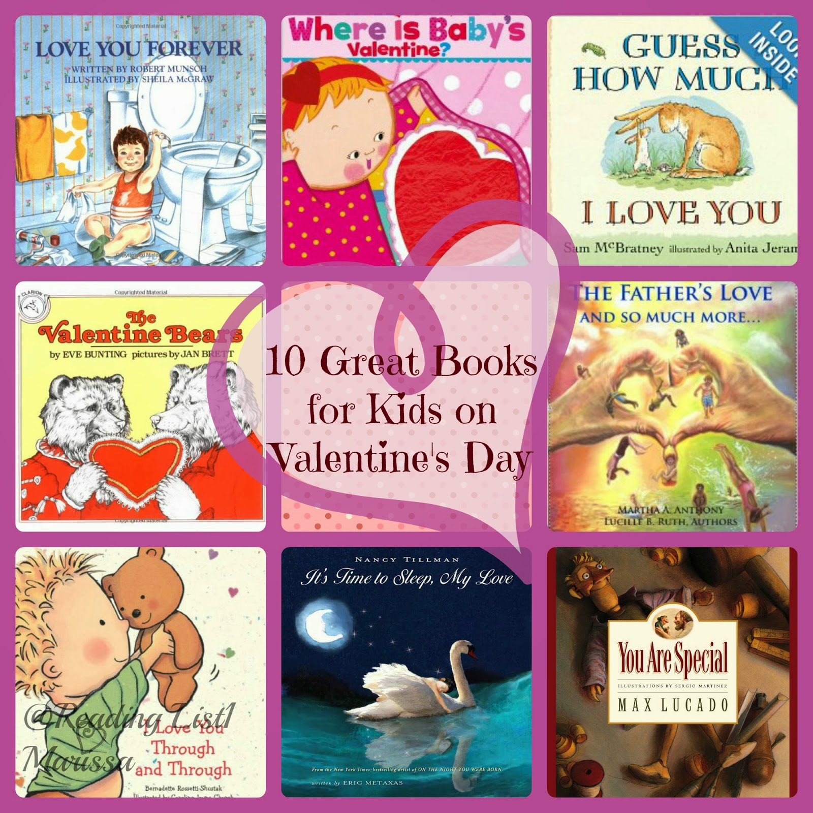 10 Great books for kids on Valentine's Day  {Reading List}