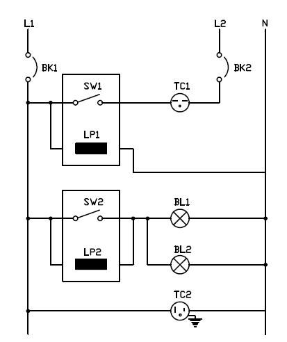 Conexion de interruptor con luz piloto