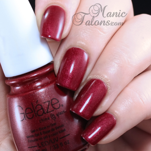 China Glaze Gelaze Gel Polish Long Kiss Swatch