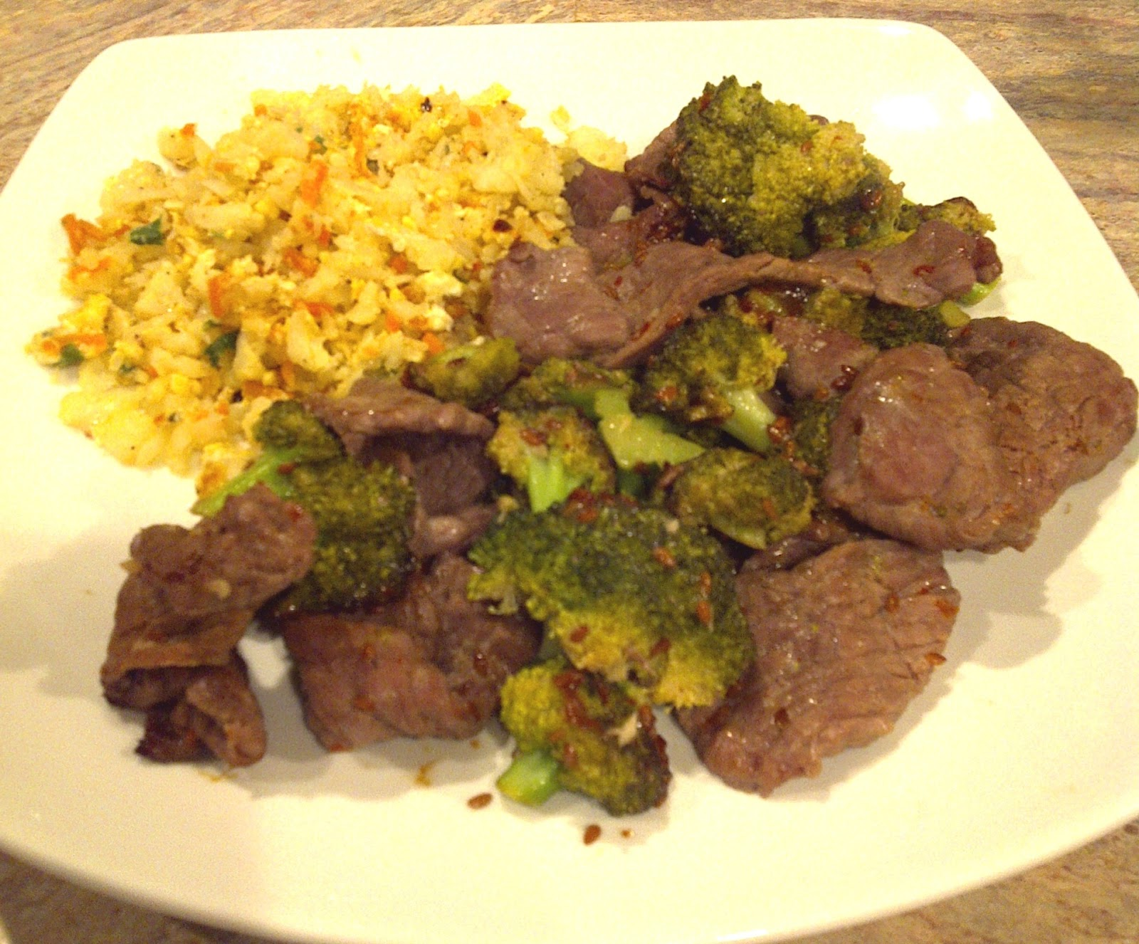 ... And Zone Meals: Broccoli & Beef Stir Fry With Fried Cauliflower Rice