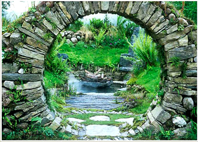 Mary reynolds on pinterest landscapes stone art and celtic for Moon garden designs