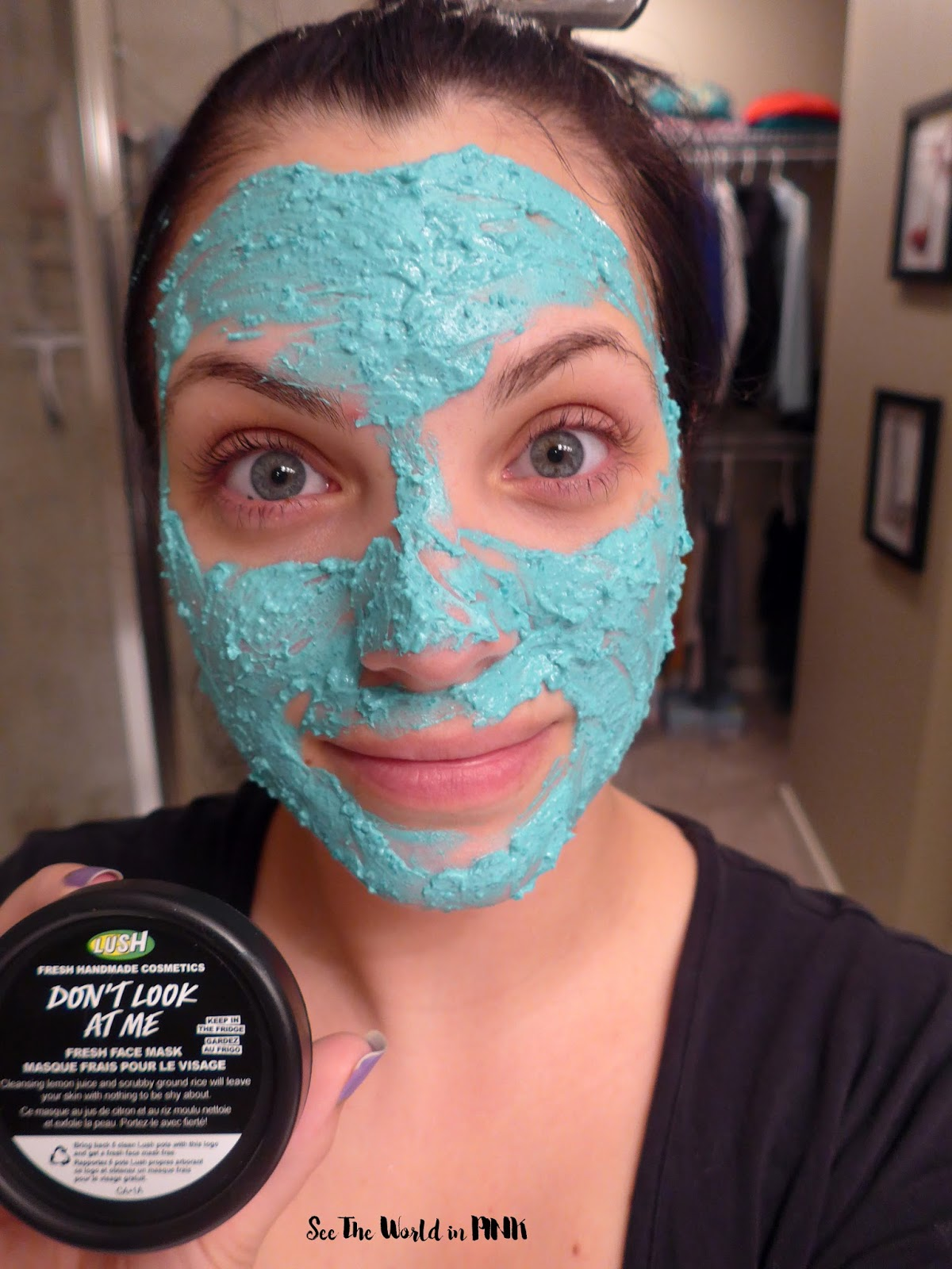 Dont look at me lush face mask review - Lush Fresh Face Mask Don T Look At Me 10 95 Well Hello Don T Be Shy Smooth On This Vivid Blue Mask And You Ll Want To Show Anyone And Everyone Your