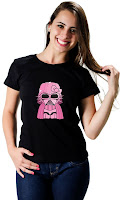 Camiseta Namorada Geek Darth Kitty