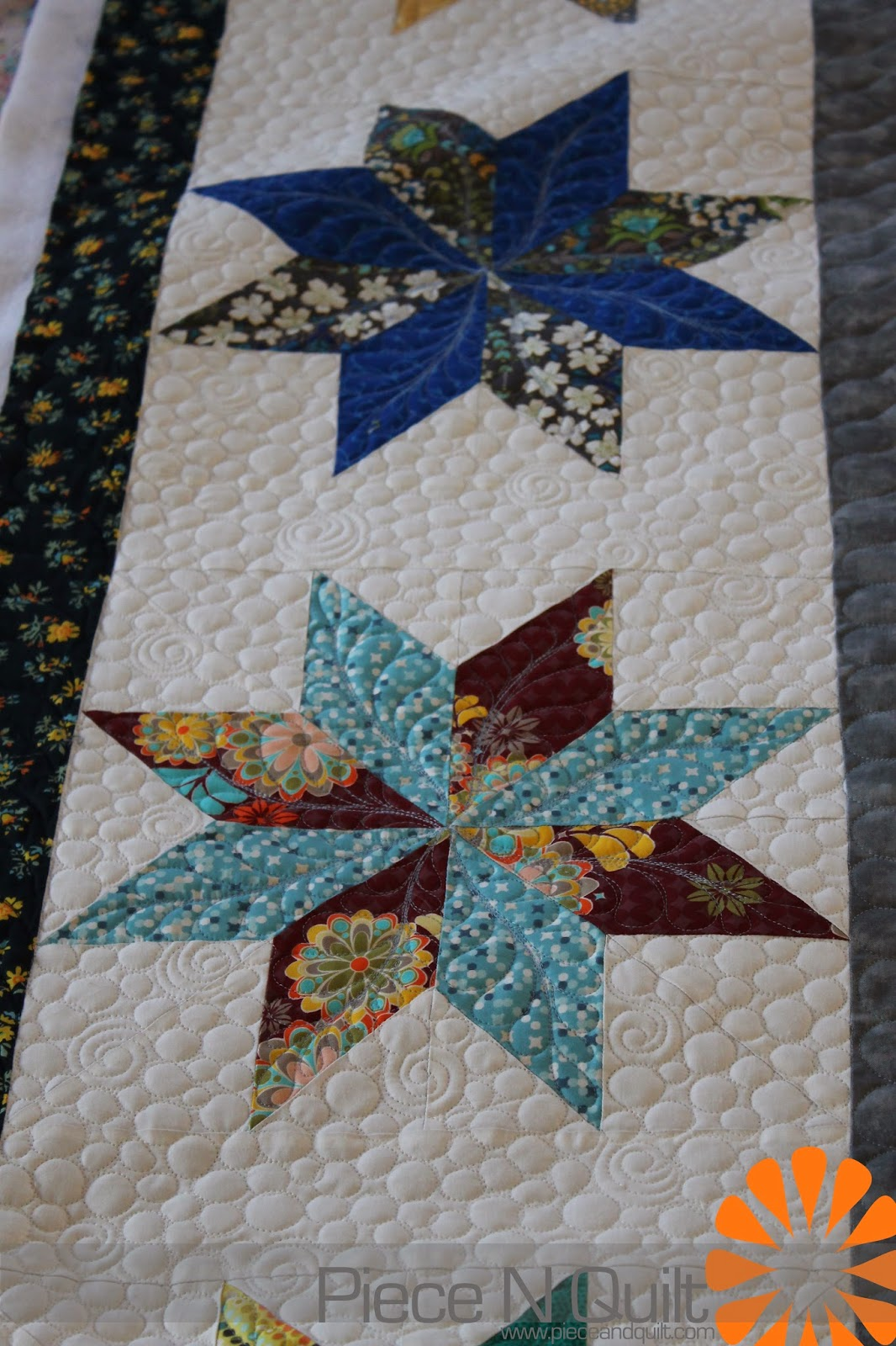 Free Star Flower Quilt Patterns : Piece N Quilt: March 2014