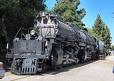 Locomotora de vapor Big Boy Unión Pacific California.