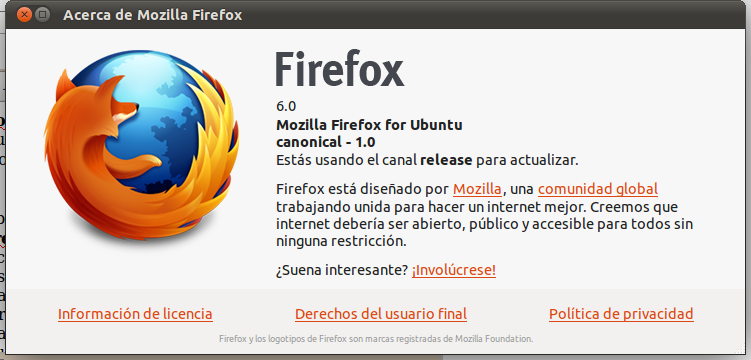Firefox 6 Ubuntu liberado final