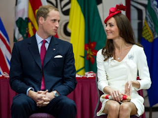 William and Kate, the Duke and Duchess of Cambridge, chat during a citizenship ceremony in Gatineau, Quebec, Canada, on July 1, 2011.
